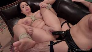 bbw lesbian rides strap